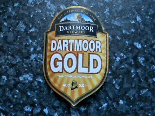 Dartmoor Dartmoor Gold beer pump clip sign