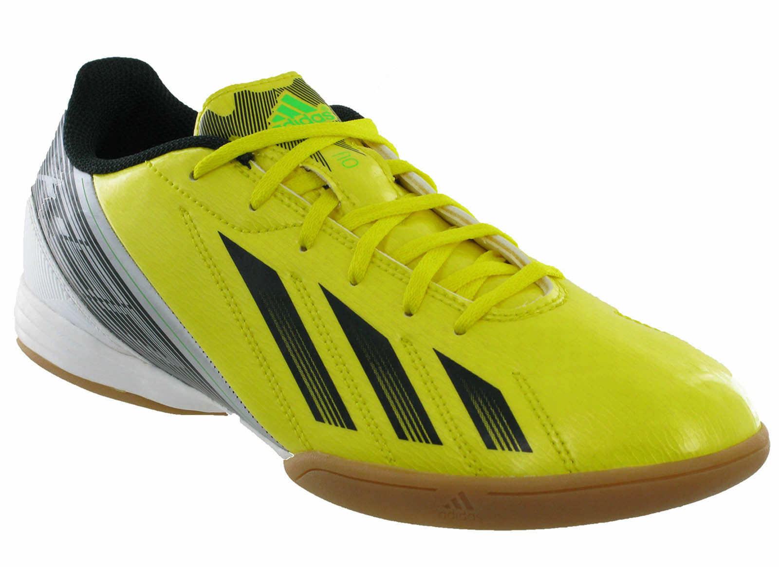 Adidas F10 Mens Indoor Yellow / Black Mens F10 Casual Lo Trainers b12af5