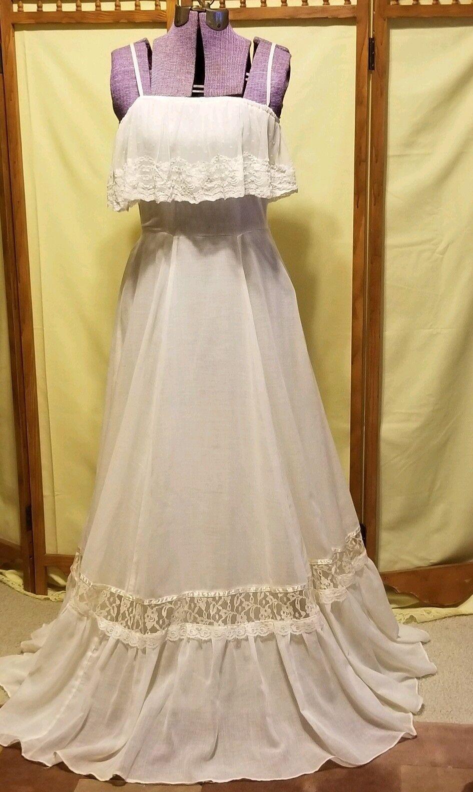 Vintage Roberto Formal Prom  Prairie Evening Dress