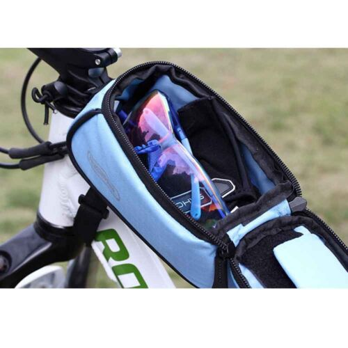 """5.5/"""" Universal Cycling Bike Bicycle Front Frame Bag Pouch Phone Holder Case"""