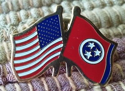 USA American Flag State of Tennessee Friendship lapel pin pre-owned