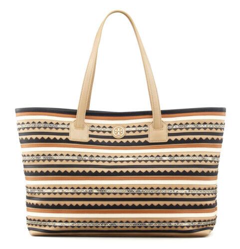 Mid Camel Vintage Uvp: 575Euro NEU Handtasche Leder Zig-Zag TORY BURCH Tasche