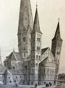 Print-Empire-West-Cathedral-of-Bonn-Middle-19th-Century-Century-Deutschland