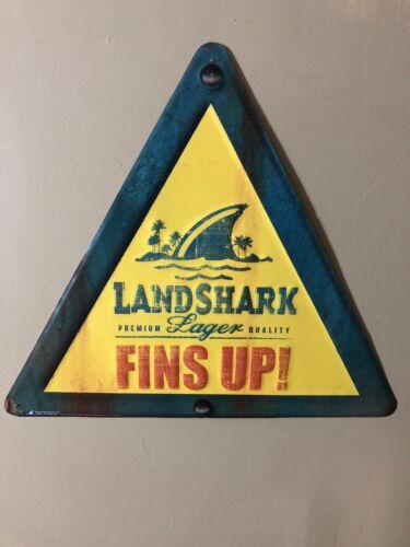 Landshark Premium Lager Quality FINS UP Metal Sign Margaritaville Brewing Co