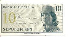 Indonesia: 10 Sen 1964 UNC