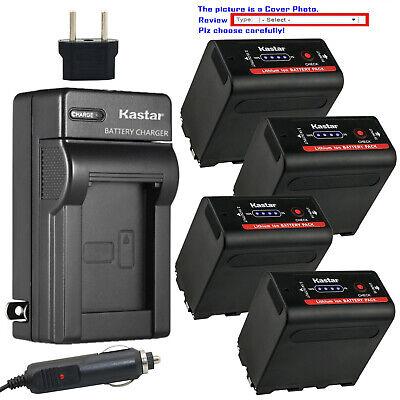 Kastar Batería Cargador de viaje Para Sony NP-F550 /& MVC-FD5 MVC-FD51 MVC-FD7