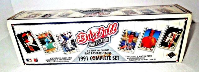 1991 Series 1 Upper Deck Baseball Cards Complete Set