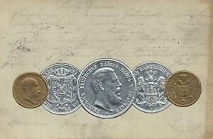 1900-VINTAGE-EMBOSSED-ART-NOUVEAU-SILVER-amp-GOLD-COINS-POSTCARD-HIGH-QUALITY