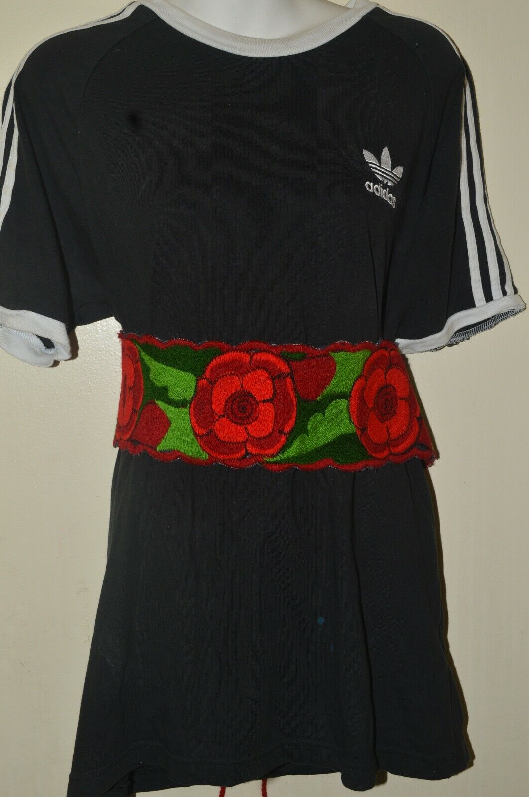 Embroidered Roses Belt Mexican Style By Textiles EMISA For Catrina Outfit