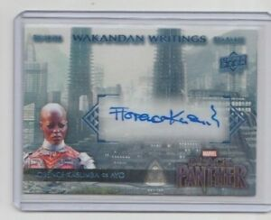 Marvel-Black-Panther-Autograph-Trading-Card-WW-AY-Florence-Kasumba-as-Ayo-A