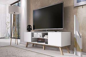 Tv Meubel Scandinavisch : Tv möbel lowboard bank schrank studio wood skandinavisch weiß