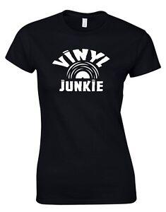 Vinyl Junkie Record Inspired Retro MUSIC WOMENS T SHIRT