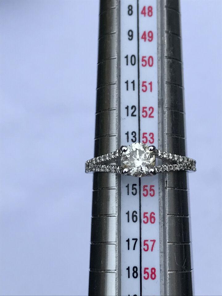 1.4 Ct Split Shank Pave Round Cut Diamond Engag...