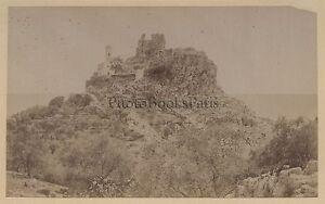 Eze Costa Azzurra Francia Stampa Albume D'Uovo Vintage Ca 1875