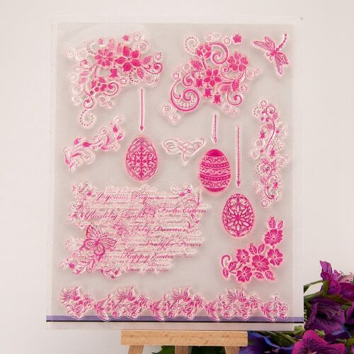 Lace corner Transparent Silicone Clear Rubber Stamp Sheet Cling Scrapbooking K6