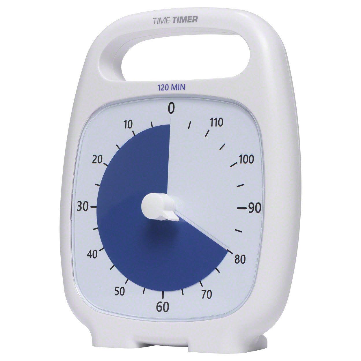 Time Timer Plus Tischuhr mit akustischem Signal, 120 Min., 14x18 cm