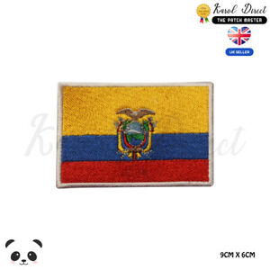 ECUADOR-National-Flag-Embroidered-Iron-On-Sew-On-Patch-Badge-For-Clothes-etc
