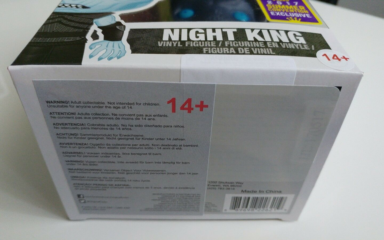 Funko pop 'game of thrones nacht könig könig könig sdcc 2017 juego de tronos 8de594