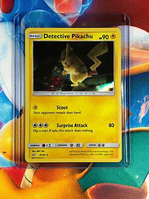 Raro Holo-Quase perfeito//M Detetive Pikachu Charmander 4//18
