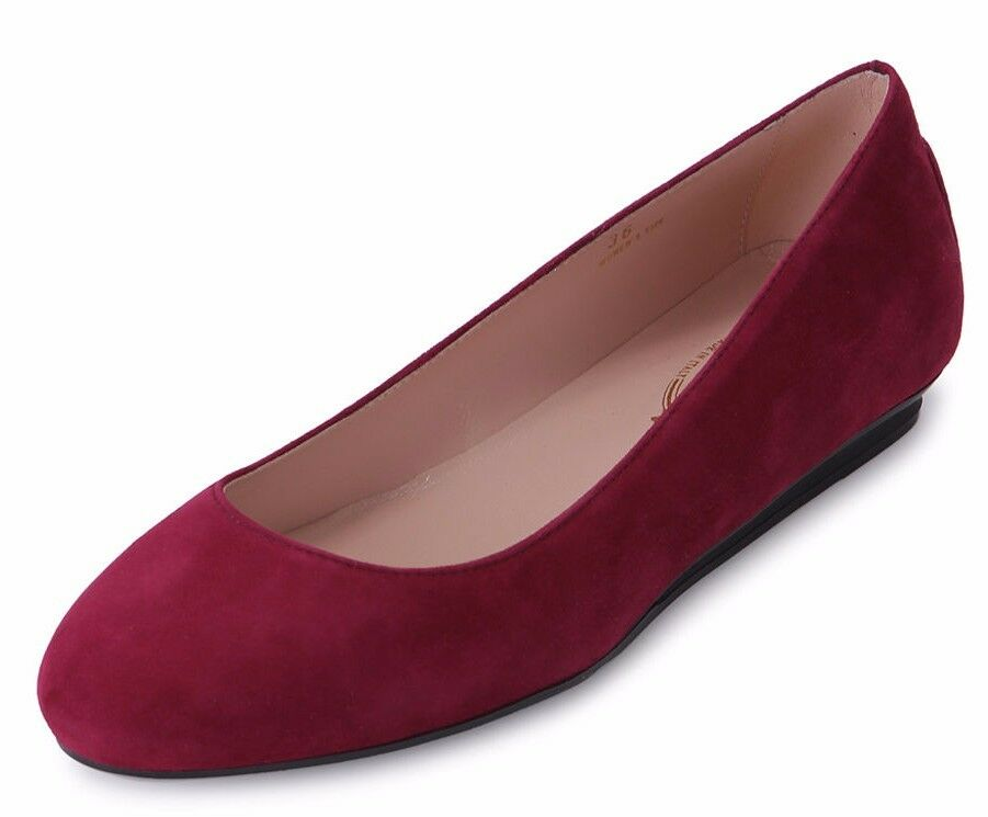 Tod's red women Cuir Suédé shoes Plates Ballerines GOMMA Gommini Métal 9