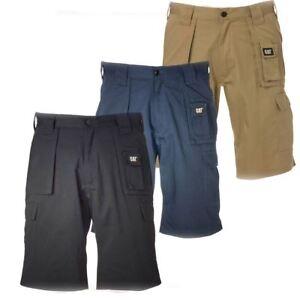 New Caterpillar Men's Comfort Heavy Duty Twill Cargo Shorts Work ...
