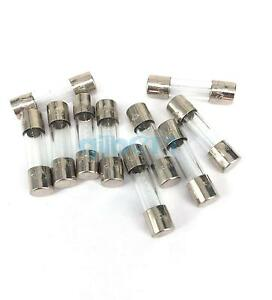 10-pieces-250V-1-25A-5x20mm-Slow-Blow-Glass-Tube-Fuses