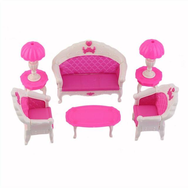 8pcs spielzeug barbie puppe sofa stuhl couch schreibtischlampe moebel p4j9 g nstig kaufen ebay
