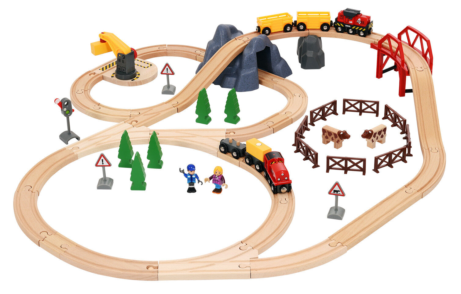Wooden Railway Big Countryside & Cargo Set 33934 Brio