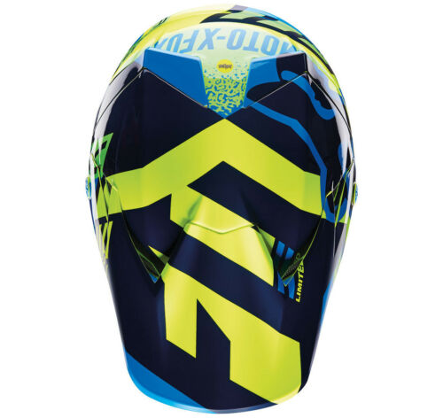 Youth Fox V3 Division Motocross Mx Helm Reit- & Fahrsport-Artikel Blau/Grün Kinder Quad Bmx Mips Reithelme & -schutzkleidung