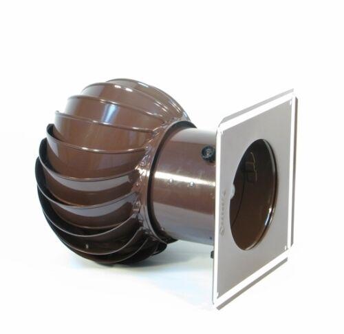 Schornsteinaufsatz NEU Turbo Kaminaufsatz Lüftungsaufsatz 150 mm TRN150 braun