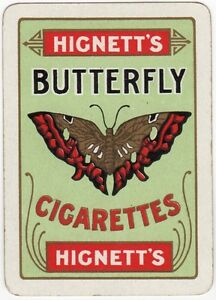 Playing Cards 1 Swap Card Old Vintage Wide HIGNETTS BUTTERFLY CIGARETTES Tobacco - Bristol, United Kingdom - Playing Cards 1 Swap Card Old Vintage Wide HIGNETTS BUTTERFLY CIGARETTES Tobacco - Bristol, United Kingdom