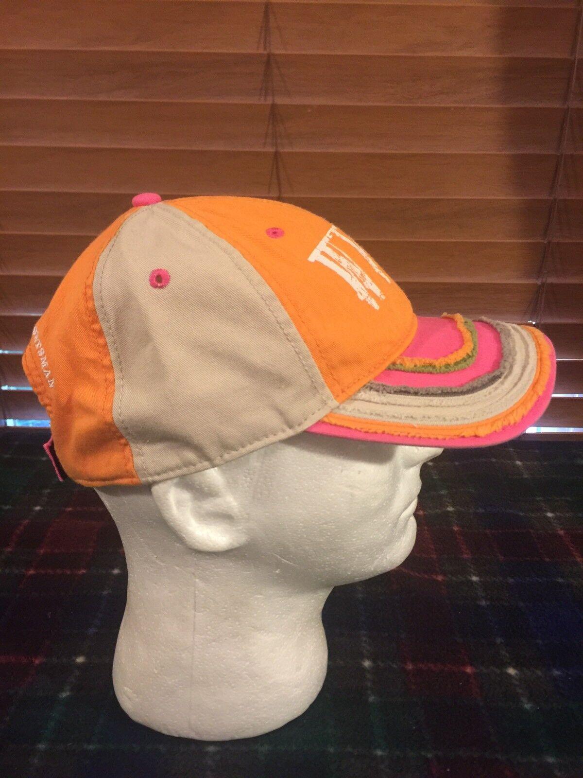 NWOT WORLD WIDE SPORTSMAN WWS 1967 Orange Orange Orange Pink Beige Adjustable Hat H177 f5bd11