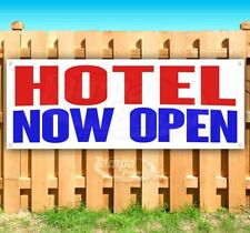 Hotel Now Open Advertising Vinyl Banner Flag Sign Many Sizes