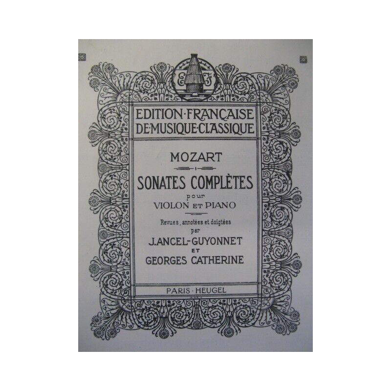 MOZART W. A. Sonates Violon Piano 1924 partition sheet music score