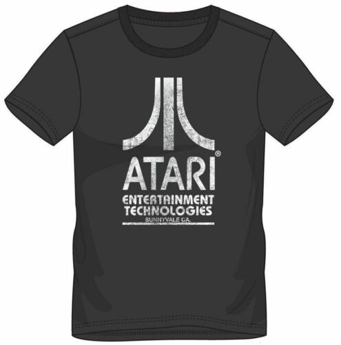 Official ATARI Entertainment Technologies T SHIRT Retro Gaming Gamer Gift