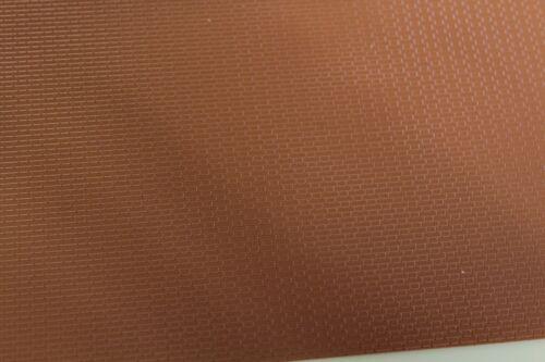 Model Railway = Embossed  Plastic Sheet= 7mm Flemish bond Brick