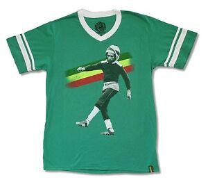 Bob-Marley-Kick-Vert-Col-V-Soccer-Jersey-Shirt-Nouveau-Officiel-Adulte-Reggae