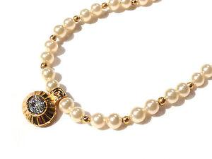 Bijou-alliage-dore-collier-haute-couture-perles-fantaisies-cristal-signe-Carven