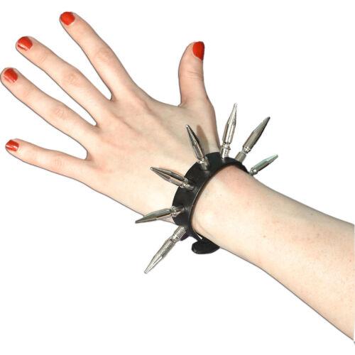 Gothic punk emo Killer pulsera con tachuelas con series 1 cartuchos de cuero artificial