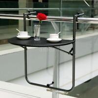Ikayaa Small Tables Balcony Coffee Table Dinner Folding Deck Tables Black R9i8