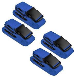 4x-Koffergurt-Gepaeckgurt-Kofferguertel-Kofferband-Gepaeckband-Kofferriemen-Reise