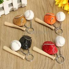 Baseball Glove Bat Key Chain Sports Keyring Keychain Christmas Halloween Gift