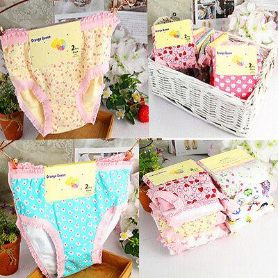 Baby Girls Cotton Underwear Kawaii Child Panties Triangle Kids Briefs Mixcolors