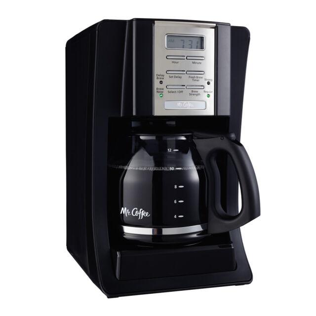 Mr. Coffee Advanced Brew 12-Cup Programmable Coffee Maker Black/Chrome,