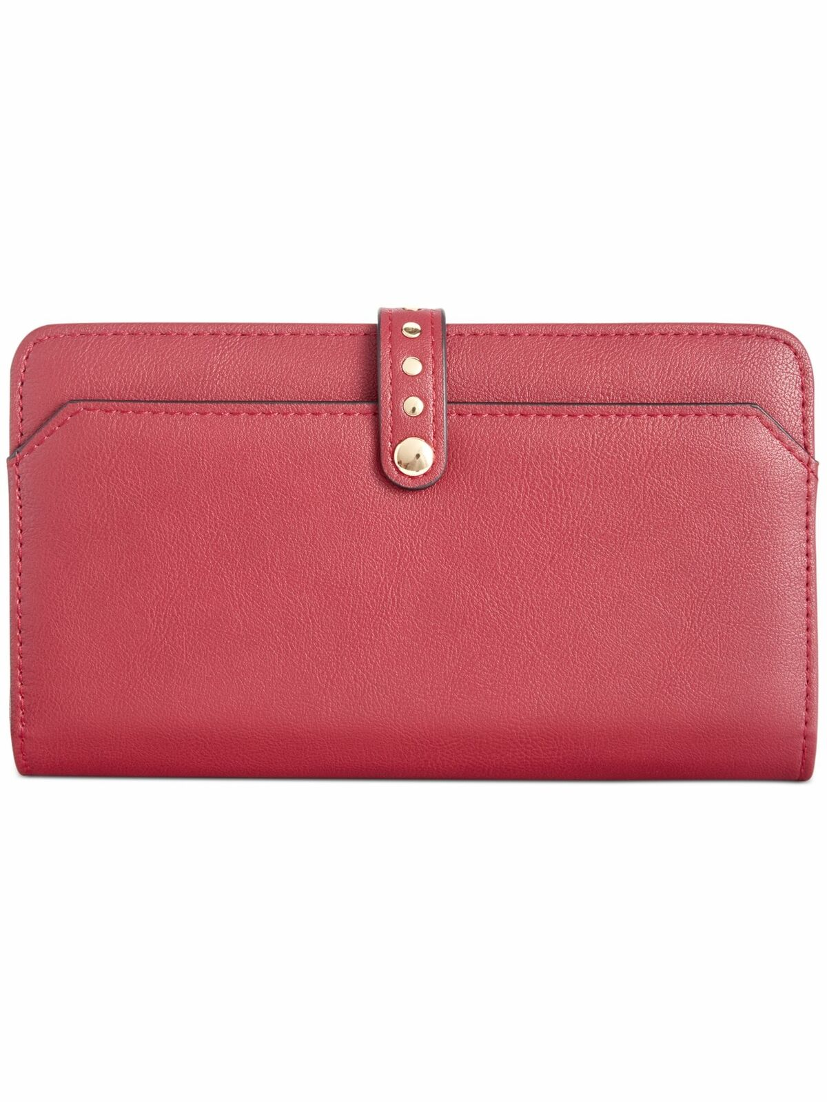 INC Women's Red Embellished Faux Leather Strapless Wallet