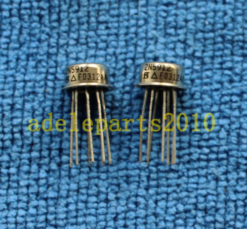 2pcs 2N5912 Dual N-Channel JFET High Frequency Amplifier CAN