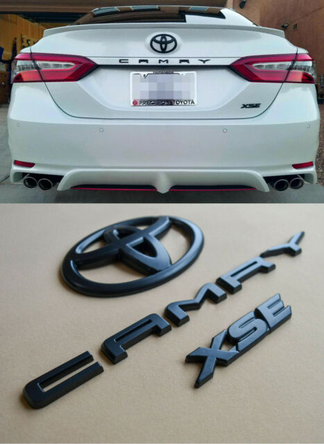 BLACK OUT EMBLEM OVERLAY KIT FIT 2018 - 2021 TOYOTA CAMRY XSE (00016-32094)