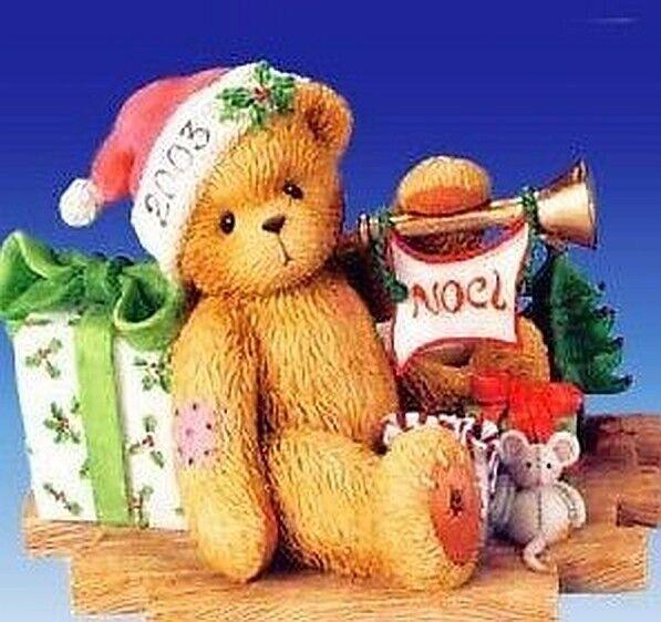 New Cherished Teddies Enesco 112391 Gerard Figurine Figurine Figurine 2003 Christmas Holiday Noel 0b7d84