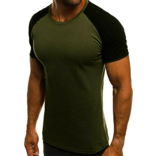 Mens Fitness T-Shirt Camo Fitness Athletic Gym Muscle Tops Casual Training Slim
