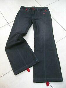 ROXY-QUIKSILVER-X-SERIES-denim-Salopettes-SKI-Pants-XL-4-UK-16-long-W36-L33